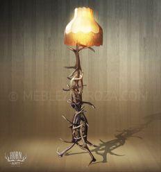 lampa z poroza jelenia
