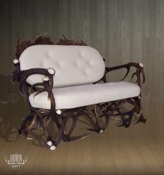 Kanapa z poroża - biała