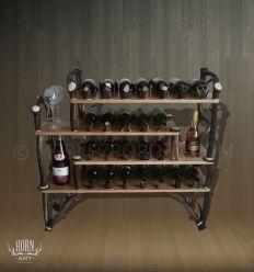 Przenośny stojak na wino z poroża