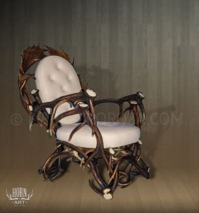 fotel z poroża