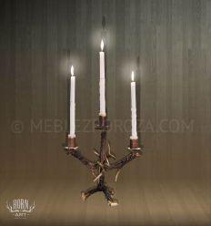 świecznik z poroża